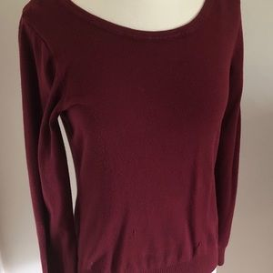 Cielo burgundy long sleeve sweater. Size M